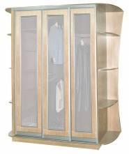 """Шкаф купе (глубина 35 см) """"Амати Гранд 3-х ств. (стекло сатин)"""""""