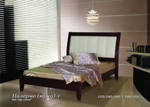 """Кровать из бука """"Палермо (кожа)-1"""""""