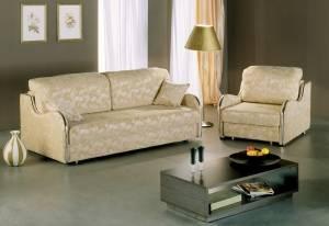 Бежевый диван еврокнижка Ваниль
