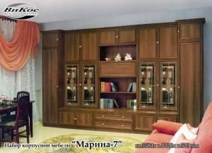 """Черная стенка в гостиную """"Марина-7"""""""