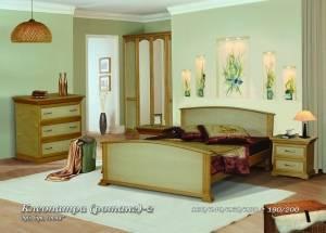 """Кровать из бука """"Клеопатра (ротанг)-2"""""""