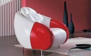 Кресло из экокожи Аква