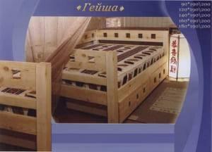 """Низкая кровать """"Гейша"""""""