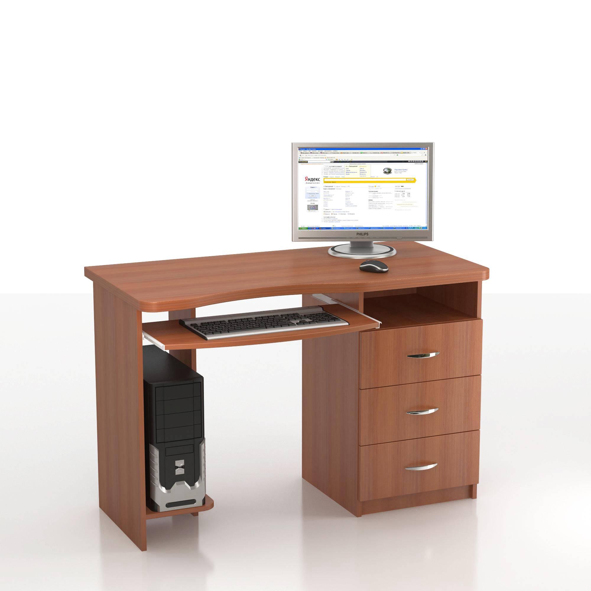 Компьютерный стол ная кс-10м левый, правый от мебелиум - меб.