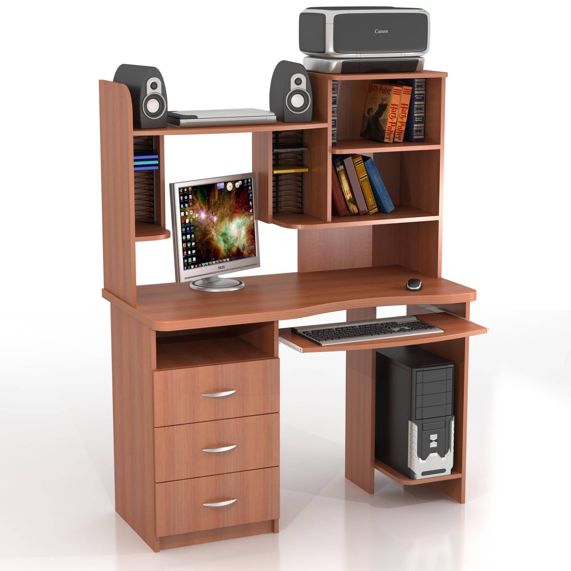 Компьютерный стол кс-10м ласточка + кн-7.