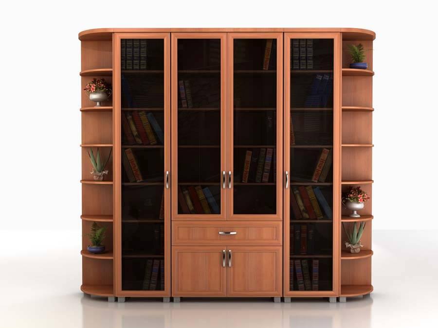 Купить книжный шкаф угловой - interior.