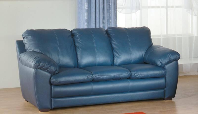 Купить стильный фиолетовый кожаный диван